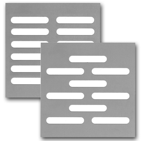 Lochblech mit Schlitzlochung 40x7 - Edelstahl