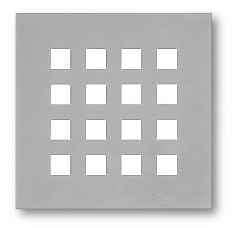 Lochblech mit Vierkantlochung 10mm - Aluminium